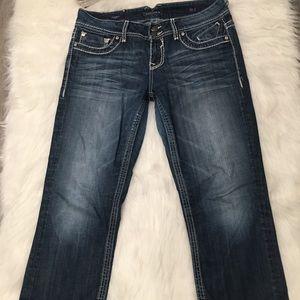 Vigoss The Dublin Capri Medium Washed Denim Jeans